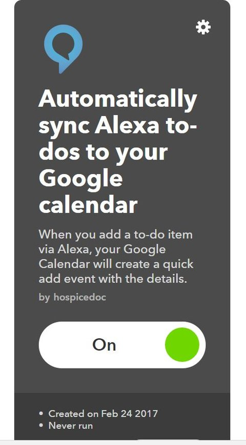 IFTTT Amazon Echo Google Kalender