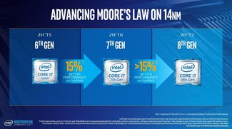 Intel: Core-Prozessoren der 8. Generation angeteasert