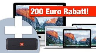 Knaller! 200 € sparen + JBL Flip 3 + 8 % Education-Rabatt bei MacTrade – MacBooks zu Bestpreisen