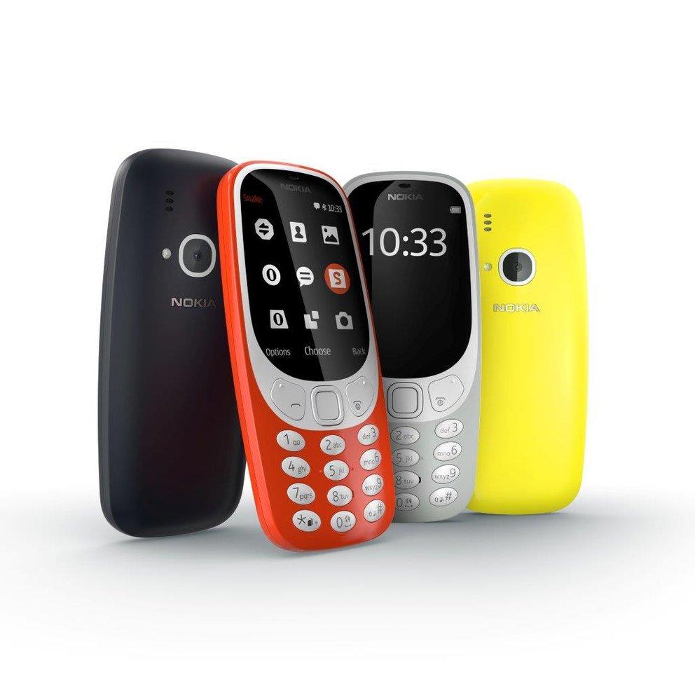 Das neue Nokia 3310 kommt in vier Farben und hat Snake an Bord (Quelle: Nokia)