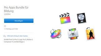 Preissturz: Final Cut Pro X, Logic Pro X und Co. im Bundle für nur 229,99 Euro