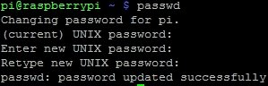 Raspbian Password