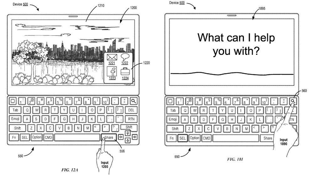 Patentantrag zeigt Smart Keyboard mit Siri-, Emoji- und Teilen-Taste