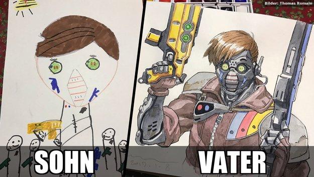 Dieser Vater verwandelt die Zeichnungen seiner Kinder in richtige Artworks