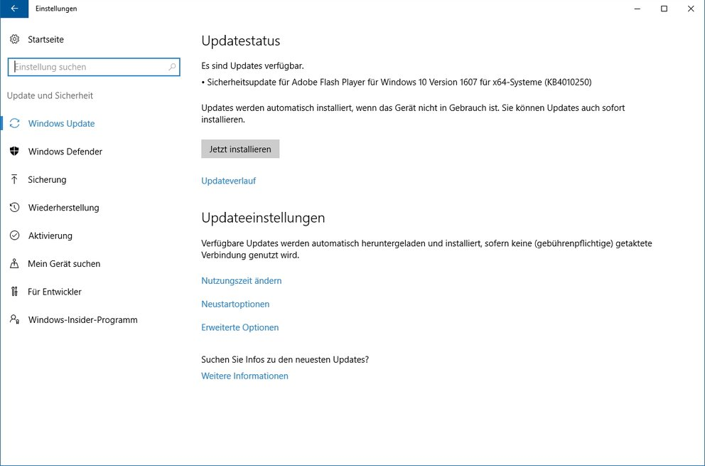 Windows-10-Flash-Update-Sicherheit