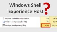 Windows Shell Experience Host – Was ist das? Deaktivieren wegen hoher Auslastung?