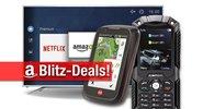 Blitzangebote: Outdoor-Handy, Fahrrad GPS, Festplatten, UHD-TVs zum Bestpreis