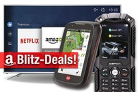 Blitzangebote:<b> Outdoor-Handy, Fahrrad GPS, Festplatten, UHD-TVs zum Bestpreis</b></b>