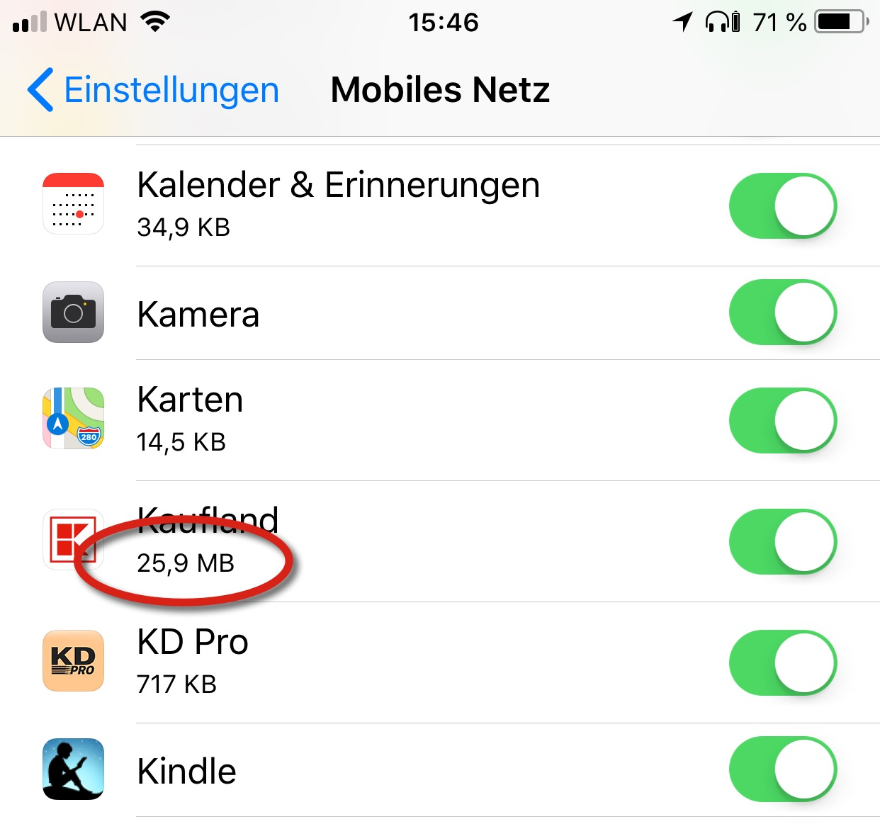 iphone 6s datenvolumen kontrolle
