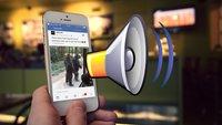 Facebook-App: Videos starten bald automatisch mit Ton