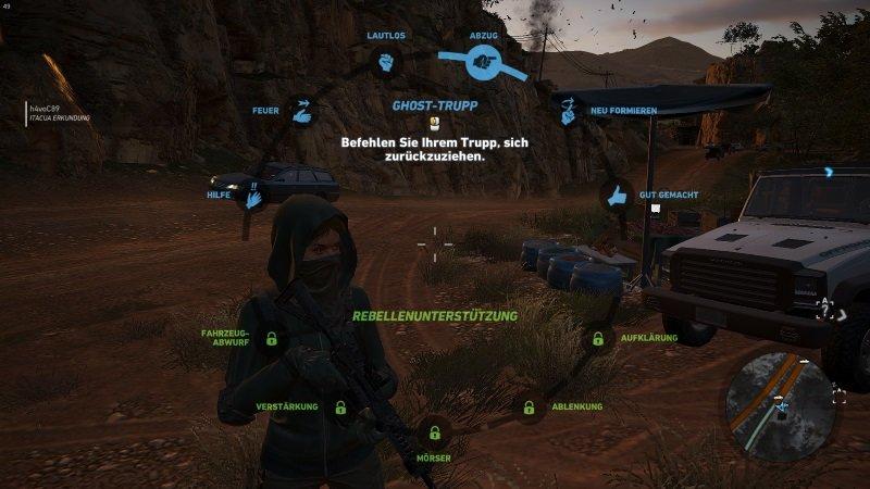 Das Waffenrad ist besonders für Einzelspieler nützlich. Alle Spieler brauchen es aber spätestens, wenn sie Rebellenunterstützung freigeschaltet und gegen Unidad-Kämpfer in der Stufe 4 kämpft.