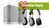 Valentinsangebote von Gravis: Sonos Play 1, Bowers & Wilkins und mehr im günstigeren Zweierpack