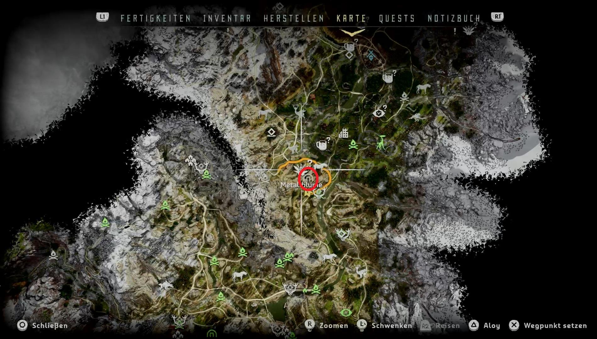 horizon zero dawn energiezellen karte Horizon – Zero Dawn: Energiezellen – Fundorte für das beste Outfit