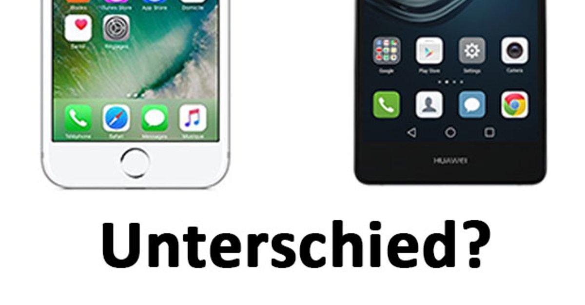 Unterschied zwischen iphone und samsung
