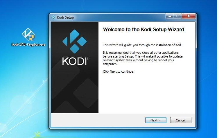 Installiert die aktuelle Kodi-Version, um Updates anzuwenden.