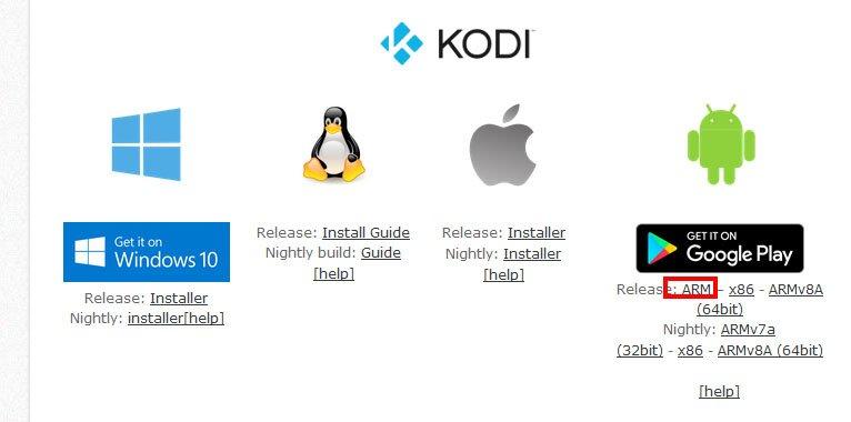 Für den Fire TV benötigt ihr die APK-Datei von Kodi in der ARM-Variante.
