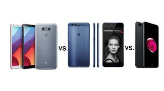 LG G6 vs. Huawei P10 Plus vs. iPhone 7 Plus: Display-Giganten im Vergleich