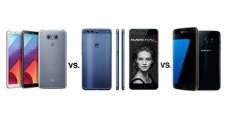 LG G6 vs. Huawei P10 Plus vs. Samsung Galaxy S7 edge: Phablet-Oberklasse im Dreikampf