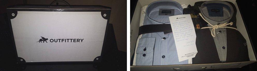 Lucas' Outfittery-Box und ihr Inhalt