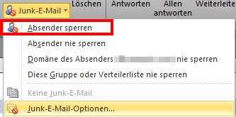 So könnt ihr E-Mail-Absender in Outlook sperren.