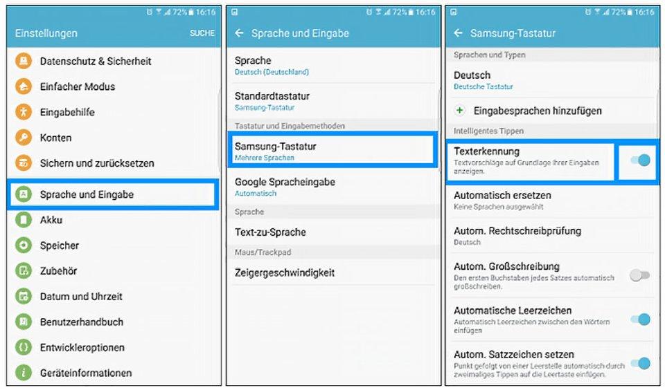 Samsung Galaxy: So öffnet ihr die Tastatur-Einstellung. Bildquelle: samsung.com