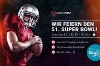 Exklusiv für GIGA-Leser: Save.TV feiert den 51. Superbowl - Online-Videorecorder jetzt 51 Tage gratis testen!