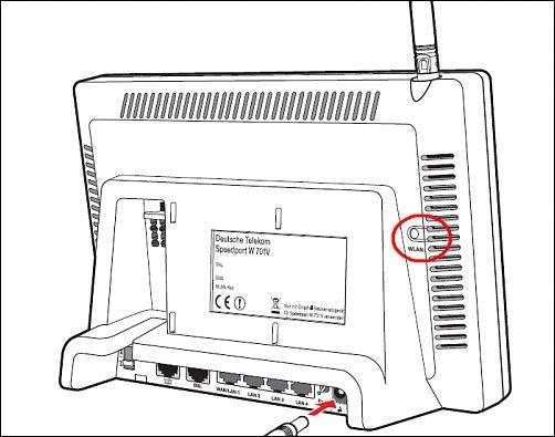 Bei anderen Modellen ist der WLAN-Knopf auf der Rückseite.