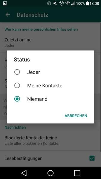 Whatsapp Leerer Status Anleitung