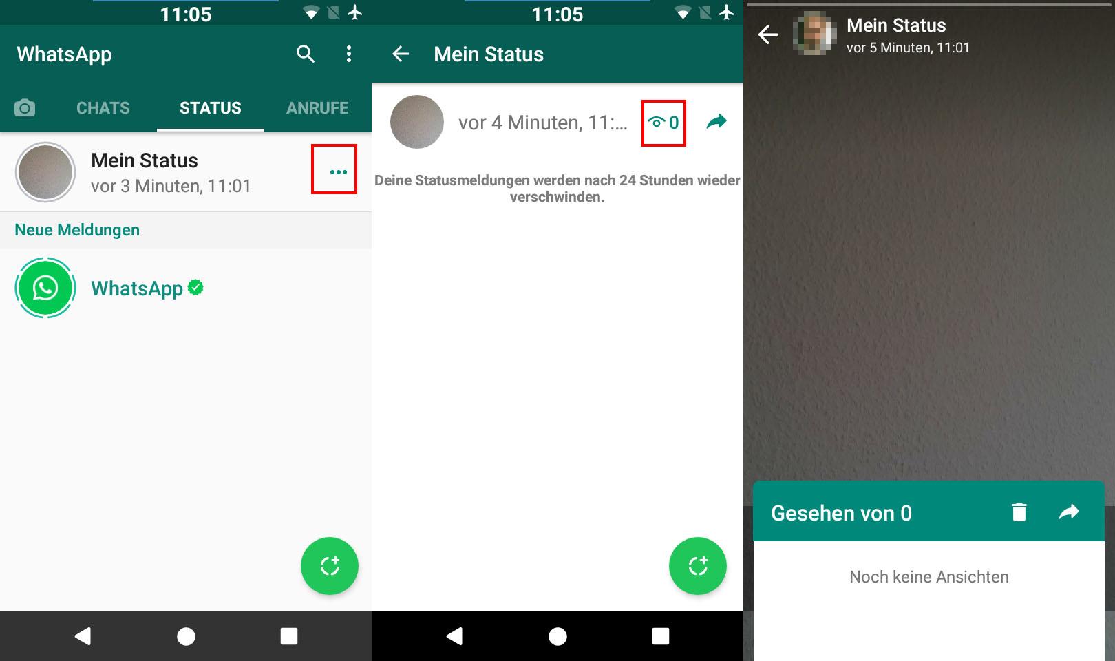 Whatsapp Status Verschicken Update Meldungen Deaktivieren