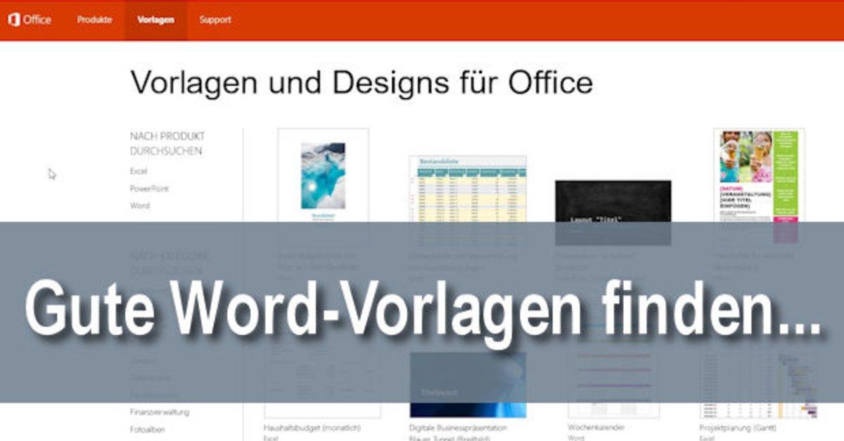 Word-Vorlagen finden, erstellen und nutzen – so geht\'s – GIGA