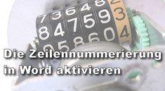 Word: Zeilennummern einfügen und formatieren