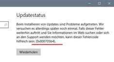 Lösung: Windows Fehler 0x800705b4 bei Update