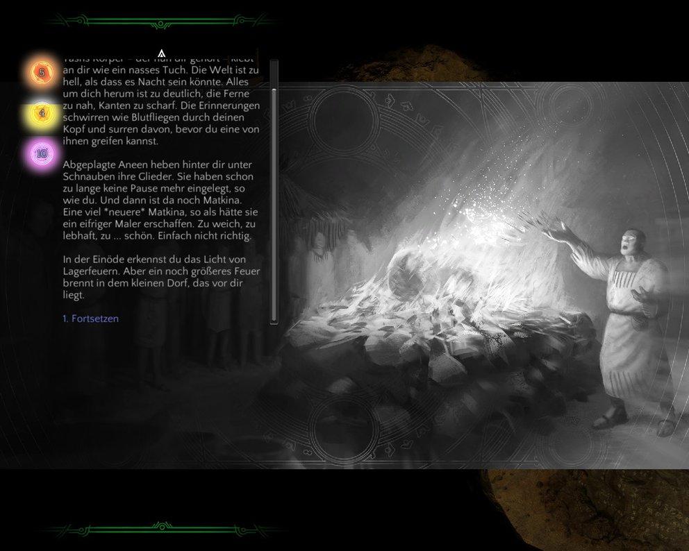 Statt aufwendiger Präsentation setzt Torment: Tides of Numenera auf umfangreiche Texte.