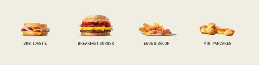 Burger King Frühstück