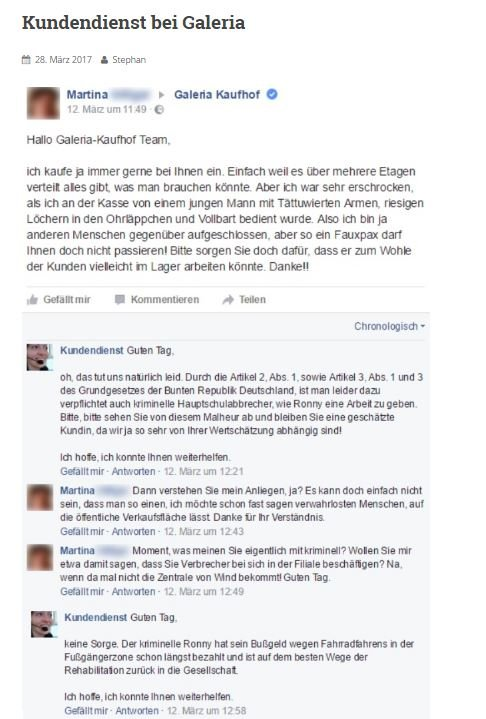 Facebook Kundendienst Fake