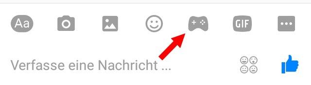 Facebook Messenger Spiele Controller Symbol