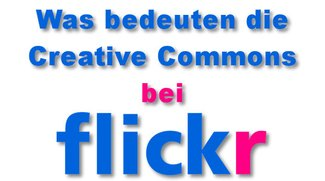 Die Flickr Creative Commons-Lizenz einstellen