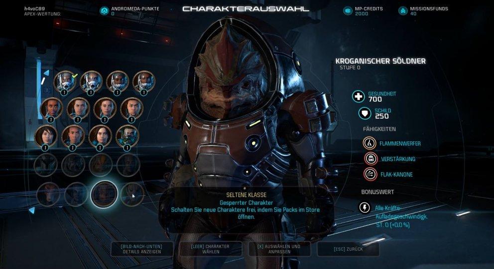 Mass Effect Andromeda Speziaklassen