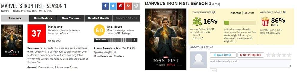Fans und Kritiker sind sich definitiv nicht einig // Screenshot: Metacritic (l.), Rotten Tomatoes (r.)