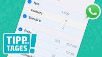 WhatsApp aufräumen: Neue Funktion bringt mehr Speicherplatz
