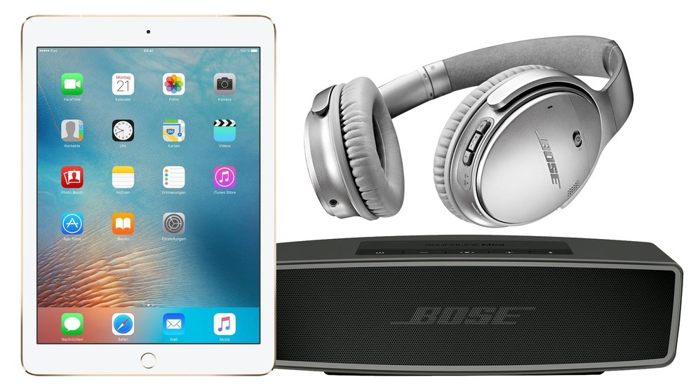 "Otto Technik Sale: Apple iPad Pro 9,7"", AirPods, Bose SoundLink Mini 2 und mehr + 15 € Rabatt"