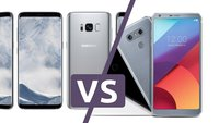 Geschwindigkeitsvergleich: Samsung Galaxy S8 vs. LG G6