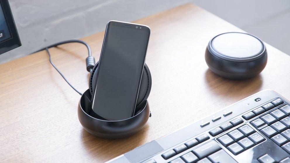 Das Samsung Galaxy S8 Plus wird zum Desktop-PC