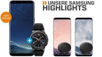 Samsung-Highlights bei Saturn: Galaxy S8 + Gear S3 mit Telekom-Vertrag für 35 € pro Monat