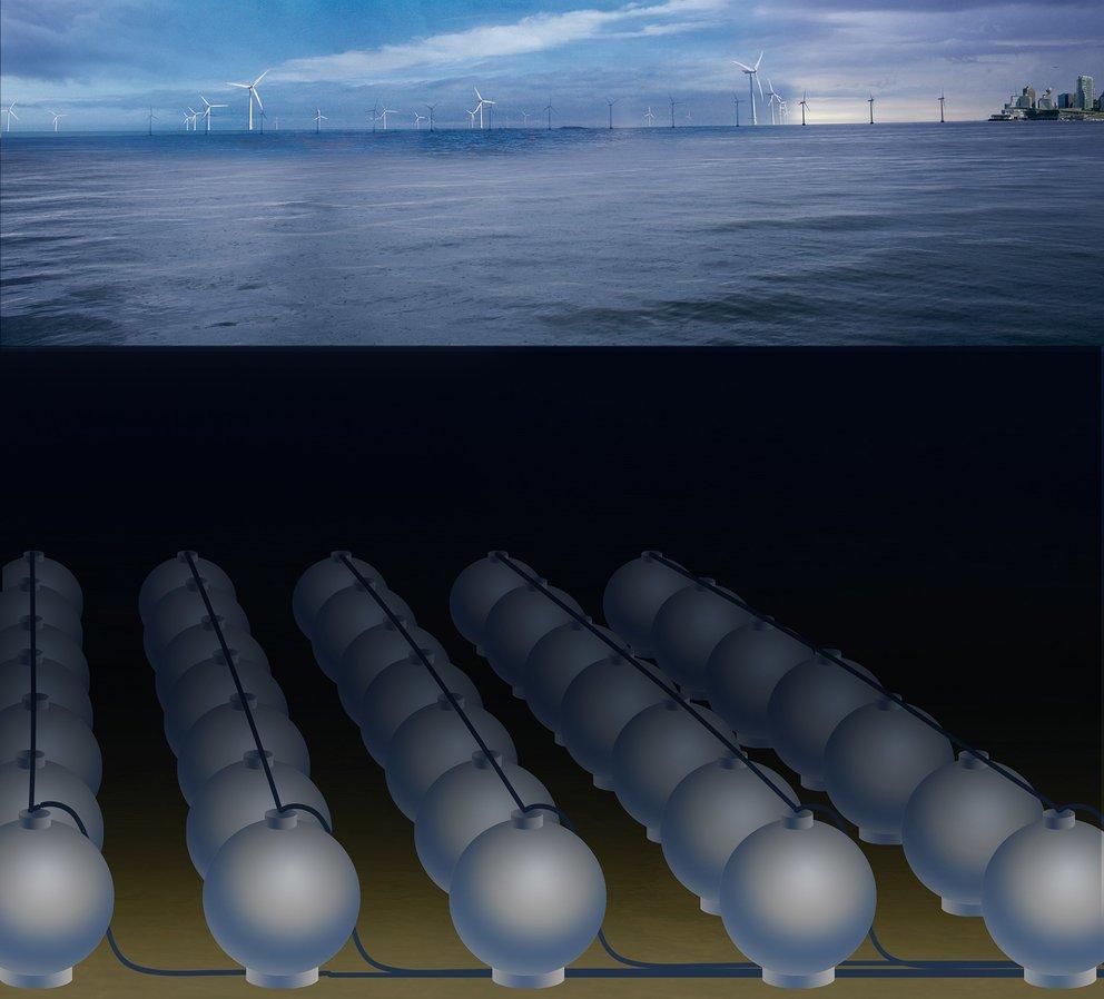 Pumpspeicherkonzept StEnSEA: Weltweites Potential von 893.000 MWh (Quelle: Fraunhofer IWES, Energiesystemtechnik)