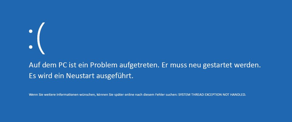 System Thread Exception Not Handled: Was soll das heißen?
