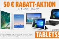 50 € Rabatt auf iPads und Tablets bei notebooksbilliger.de