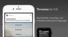 Threema: Messenger-Update bringt interaktive Push-Nachrichten