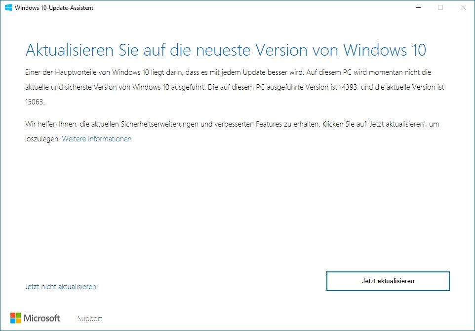 Windows 10 Update Assistent Creators Update