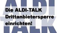 ALDI-Talk Drittanbietersperre einrichten lassen
